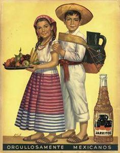 Orgullosamente Mexicanos Mexican Calendar Art Postcard Reproduction Vintage