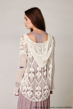 Mesh tunic with a hood