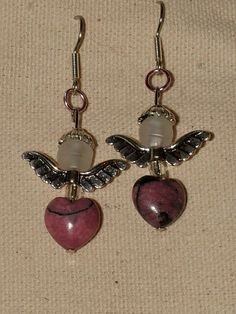 Angels Heart Earrings by MyEnjoyment on Etsy, $15.00