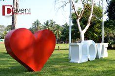 Corazón MEDIANO D-Event Mesa Love www.deventmex.com