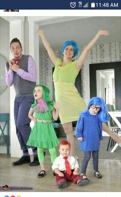inside out family costume halloween costume contest via