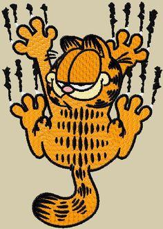 Garfield free machine embroidery design