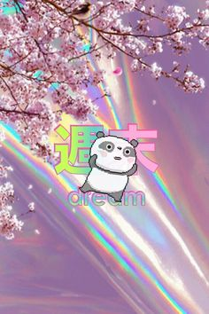 vaporwave pink Japan dream panda
