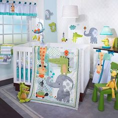 Lambs Ivy 5 Piece Baby Nursery Crib Bedding Set Yoo Hoo w Bumper New Elephant Crib Bedding, Baby Crib Bedding Sets, Baby Nursery Bedding, Crib Sets, Baby Cribs, Nursery Decor, Nursery Ideas, Elephant Baby, Giraffe