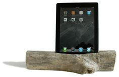 Driftwood Docking Station for a Tablet, iPad 4 or Air contemporary-desk-accessories