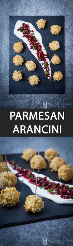 Parmesan Arancini - {NEW RECIPE} Why not serve #Parmesan Arancini as a canapé at Christmas parties? Check it out Parmigiano Reggiano #sp
