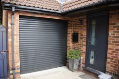Roller Garage Door - Graphite RAL 7024 Metal Garage Buildings, Metal Garages, Automatic Garage Door, Wood Garage Doors, Roller, Graphite, Shed Plans, Garage Storage, Cottage