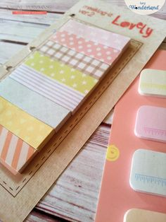 Wonderland: Korean stationery  ~ love these colors... me want!!!