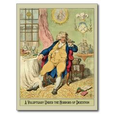 Funny Illustration by James Gillray Post Cards