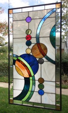 Galaxy 1 Large 36.5 x 18.75  Stained Glass by StainedGlassArtist