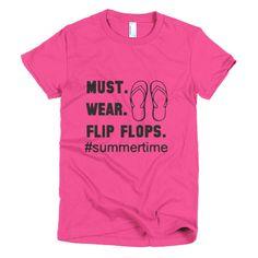 flip flop short sleeve shirt