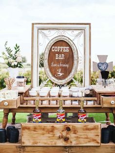 21 perfect wedding reception coffee bar 00011 Related The Effective Pictures We Offer You About rustic wedding catering A quality picture can tell you many things. You can find the most beautiful pict Unique Wedding Food, Wedding Reception Food, Brunch Wedding, Wedding Catering, Reception Decorations, Unique Weddings, Wedding Foods, Wedding Receptions, Wedding Menu