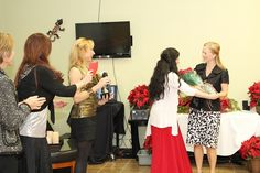 Terry, Ilana, Lauren, and Christy present Tama with her award.