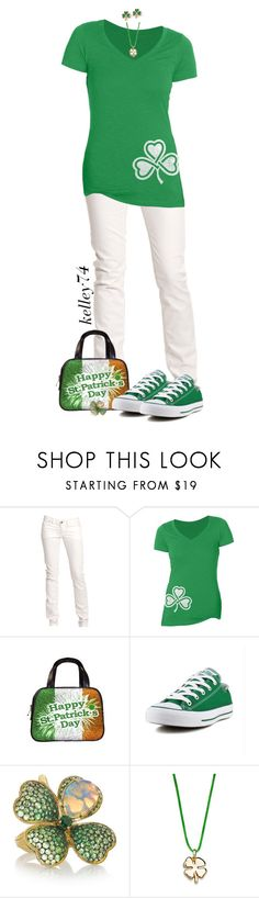 """St. Patrick's Day 1"" by kelley74 ❤ liked on Polyvore featuring Replay, Converse and Lydia Courteille"