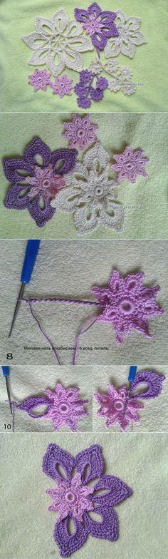 Diagram for several crochet motifs...♥ Deniz ♥