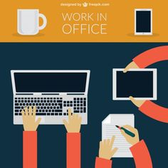 Office Work Free Vector