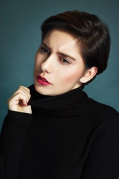 "Emilie C. - Turtleneck - Simple portrait of <a href=""facebook.com/EmilieCModele"">Emilie C.</a> with a black turtleneck © Nicolas Dumas 2016 - http://nicolasdumas.info"
