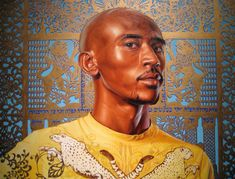 """Kehinde Wiley: Artist """"Solomon mashash ii (the world stage-israel)' 2012 oil and gold enamel on canvas"""