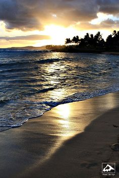 Poipu Beach on the south shore of Kauai - one of the best places on the island to watch the sunset.