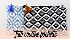 • [TUTO COUTURE] Trousse / Pochette double face avec doublure  • Diy Trousse, Pouch, Simple, Inspiration, Couture Sac, Clutch Bag, Sewing Projects, Sewing, Biblical Inspiration