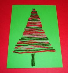 Learning Ideas - Grades K-8: Yarn Tree Craft Activity