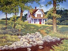Brookside by John Sloane ~ summer ~ country home ~ brook
