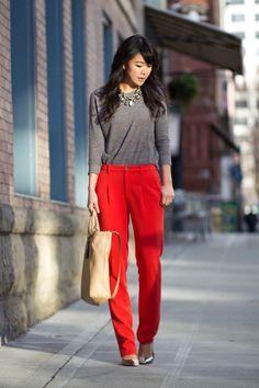 Red-orange pants