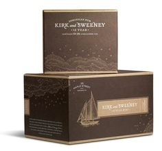 Kirk & Sweeney Packaging Illustrated by Steven Noble on Behance