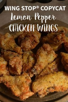 Enjoy these lemon pepper chicken wings just like your favorite restaurant makes them; enjoy them on the day of the big game! Super Bowl Essen, Air Fryer Recipes Breakfast, Breakfast Cooking, Chicken Wing Recipes, Lemon Pepper Chicken Wings Recipe Baked, Lemon Peper Wings, Lemon Pepper Chicken Wings Recipe Oven, Hot Wings Recipe Fried, Chicken Drummettes Recipes