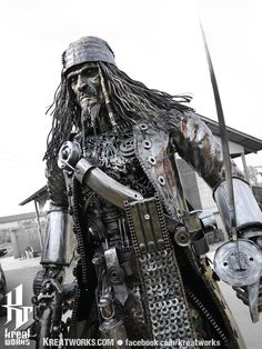 Steampunk Recycled Metal Pirate