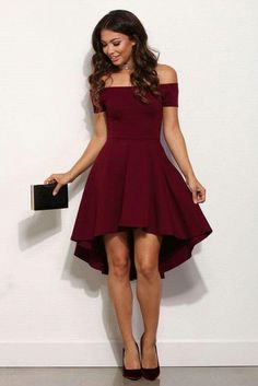 Wine short dress