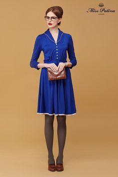 Miss Patina, Hampton Electric Blue dress, awesome!!#