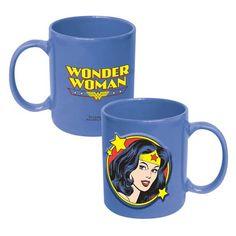Wonder Woman Face 20 oz. DC Comics Embossed Mug - ICUP - Wonder Woman - Mugs at Entertainment Earth
