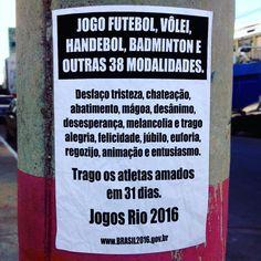 Hoje é 5 de julho e falta só 1 mês para os Jogos #Rio2016.  Estou ansiosa! E vocês? @timebrasil @rumoa2016 #soubrasileira #bra #agentenaoquersocomida #avidaquer @avidaquer por @samegui