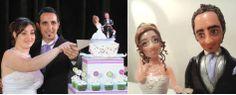 Replicas de novios para torta de bodas