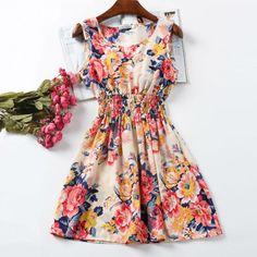 2017 New Summer Women Tank Chiffon Beach Dress Sleeveless Sundress Floral Mini Dresses M L XL XXL 21 Colors ht