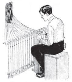How to Make Hammocks (By: Charles M. Miller) Boy Mechanic Book 3 - 800 Things For Boys to Do Popular Mechanics Press © 1919
