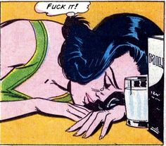 "Comic Girls Say.. ""Fuck it ! "" #comic #vintage #popart"