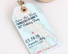 {save the date luggage tag}
