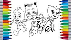 PJ MASKS Coloring Pages for Kids Pj Masks Coloring Pages, Paw Patrol Coloring Pages, Bunny Coloring Pages, Coloring Pages For Kids, Color Bug, Spiderman Coloring, Daffy Duck, Tom And Jerry, Make It Yourself