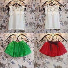 Sale 29% (11.94$) - Baby Girls Flower Sheer Sleeveless Dress Top Skirt Set