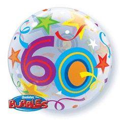 22'' Brillant Stars 60 S. Bubble Foil Balloons
