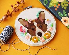 This #corgi hoop complete with corals and mustards is off to sunny California☀️