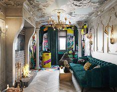 Visualization of the guest roomPleasant viewing 😎KVInterior designDesign Corner Display Unit, Monochrome Color, Gold Interior, Interior Design Studio, Neutral Colors, Guest Room, Architecture Design, Wall Decor, Living Room
