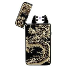 KI-VI Double Electronic Pulse Arc Windproof Cigarette Lighter Smoke-free Flameless No Gass Cigar Lighter