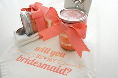DIY: 'Be My Bridesmaid' Ombre Cupcakes in a Jar