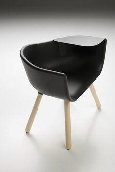 Kazoo Okamoto | 'Tulip Large' | Polyurethane guest chair with armrests