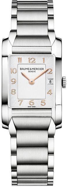 Baume & Mercier Women's Swiss Hampton Stainless Steel Bracelet Watch 35x22mm M0A10049