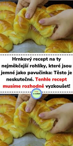 Baking Recipes, Snack Recipes, Dessert Recipes, Good Food, Yummy Food, Czech Recipes, Bread And Pastries, Snacks, Food 52
