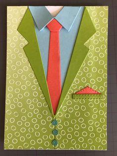 Kijk nou hoe gaaf deze kaart is! Sirpa van der Heijden heeft deze beauty gemaakt met de Suit & Tie stansen. Hiermee kun je eenvoudig verschillende outfits maken voor je kaart. De kleurencombinatie is opvallend maar wel heel leuk. Misschien zou @brunobertucci wel zo'n pak dragen.... #prulleke #prullekekleurencombinatie #stampinupnederland #Suitandtiedies #suit&tiedies #stampinup #notafraidofcolourfulclothes